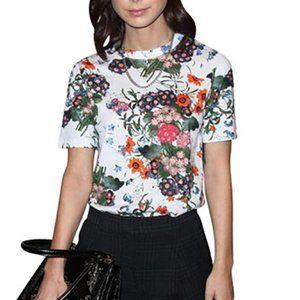 ERDEM x H&M White Floral Design T-Shirt